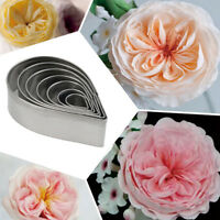 7Pcs Kitchen Baking Mold Party Wedding Decor Rose Petal Cookie Cake Cutters Gift
