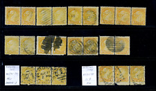 Canada #35 used F/VF 1870 Queen Victoria 1c Small Queen Pairs & Strips CV$31.50