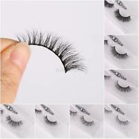 3D Mink False Eyelashes Long Curling Thick Natural Eye Lashes Extension UK SAC