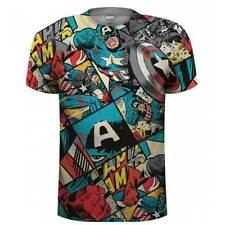 Marvel Patternless Loose Fit Regular Size T-Shirts for Men