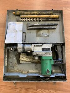 "Hitachi DH 38YE2 Rotary Hammer 120V 1-1/2"" hammer drill W/Bits and case"