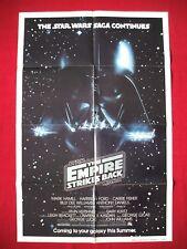 STAR WARS THE EMPIRE STRIKES BACK *1980 ORIGINAL MOVIE POSTER NSS VADER ADVANCE