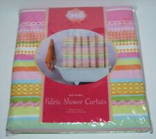 CYNTHIA ROWLEY  SWELL SHOWER CURTAIN MULTI COLOR POP PICNIC NEW