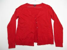 new GEORGE Sweater Women's Size L Button-Front Red Cardigan #K946