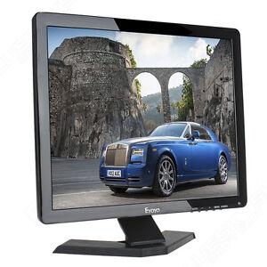 "17"" LCD TFT Monitor 4:3 Display 1080P AV USB HDMI BNC VGA Output For CCTV DVR"
