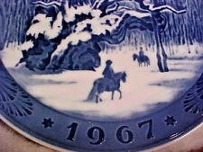 Rare Collectible 1967 Royal Copenhagen Christmas Plate The Royal Oak Denmark