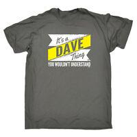 Funny Novelty T-Shirt Mens tee TShirt - Dave V2 Surname Thing