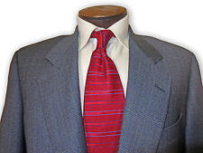 $1165 Culwell and Son Gray Glenplaid 40 40R Super 100 Wool Suit 07010