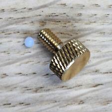 Tornillo de Unión de contacto de máquina de tatuaje Repuestos moleteado de latón M4 X 0.7mm