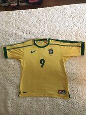 Vintage Ronaldo Brazil Futebol Soccer Jersey circa 1998 France World Cup (med)