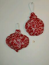 OVERSIZED STUFFED CHRISTMAS ORNAMENTS - SET OF 2