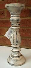 Bois sculpté candle stick Support Vintage Chic 30cm église shabby chandelier