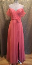 Disneys Fairytale Bridesmaid Formal Dress Alfred Angelo Size 5/6 Pink Tulle 510