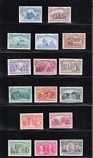 US 230P4-245P4 1893 Columbian Issue Plate Proofs on Card VF-XF SCV $2110