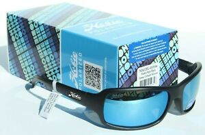 HOBIE Malibu POLARIZED Sunglasses Satin Black/Cobalt Blue Mirror NEW