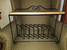 New listing Longaberger Wrought Iron Countertop or Hanging Plate Rack & Warm Brown Shelf