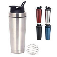 750ML Acero Inoxidable Blender Bottle Agitador Copa Taza mezcladora de proteína para entrenamiento