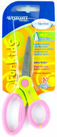 Westcott Scissors For Kids Pointed Tip Ages 6+ Microban Violet/Green Soft Handle