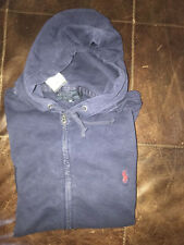 Polo Ralph Lauren Small Pony Blue  Hoodie  Jacket  Cotton Sweater LT Large Tall