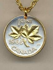 """Canadian penny """"Maple leaf"""" Coin Pendant Necklace."""