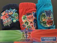 Boys Kids Children PJ Masks Briefs Pants Underwear 3 Pack Age 1.5-5 Years