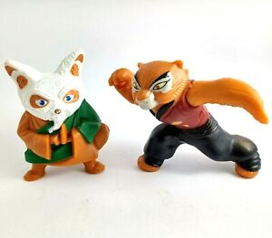 McDonalds Kung Fu Panda 2 x 2011 Happy Meal collectible Toys Tigress & Shifu