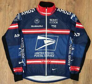USPS US Postal Service NIKEcycling Thermal Jacket Long Sleeve Jersey size M
