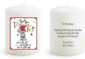 Teacher Thank you personalised gift candle leaving present end of term