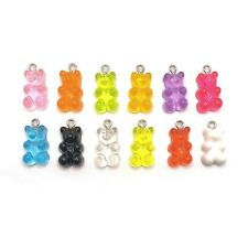 4, 20 or 50 pcs Multi-Color Gummy Bear Charms, Resin - US Seller- MC847
