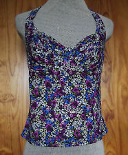 New Figleaves Size 30DD Underwired Non Padded Tankini Top Purple Mix