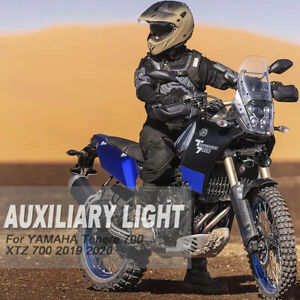 For YAMAHA Tenere 700 Motorcycle Fog Lights Auxiliary Light Bracket Driving Lamp