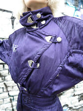 Kaelin Skiing Finesse Damen Ski Anzug Overall lila 80s True VINTAGE shiny silky
