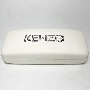 KENZO Unisex Glasses Sunglasses Hard Logo Case White