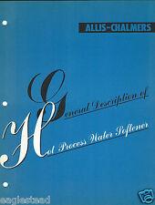 Equipment Brochure - Allis-Chalmers - Hot Process Water Softener c1947 (E2856)