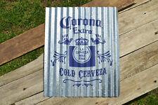 Corona Extra Corrugated Aluminium Metal Sign - La Cerveza Más Fina - Mexico Beer