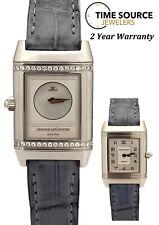 Jaeger Lecoultre Reverso Duetto Diamond Steel Quartz 266.8.44 21 X 33mm Watch