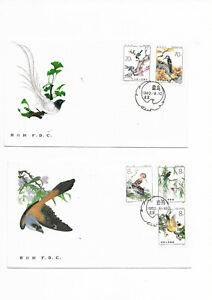 China 1982 T79 Beneficial Birds Stamp 1 set on 2pcs FDC