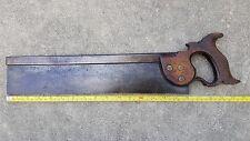 """Vintage antique Thos Tyzack 16"""" tenon back saw split nut rare saw"""