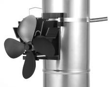 EcoFlow Heat Powered Stove/log burner Fan new for 2018 Flue Pipe Fan