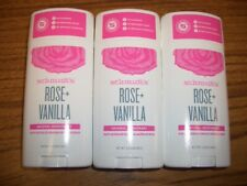 Schmidt's Rose + Vanilla Natural Deodorant  3 Sticks 3.25 oz each