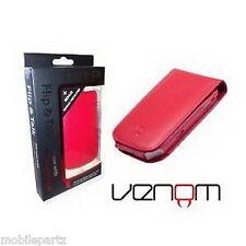 Venom Rojo Blackberry Bold 9700 / 9780 Flip & hablar Cartera / Case Protector De Pantalla