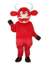 Red Bull Mascot Costume Advertisting Cow Halloween Party Cosplay Dressing Outfit