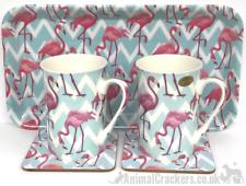 Flamingo Bay Gift Set 2 Mugs coasters and tray Leonardo matching items available