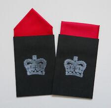 MEN'S POCKET HANKIES - SET OF TWO RED - FIXED PREFOLDED HANDKERCHIEF IN CARD