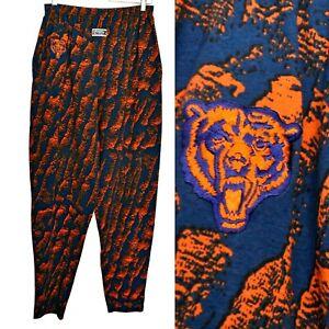 Vintage 90s Chicago Bears Pants NIXZ Size Medium NFL Football Zubaz Pants