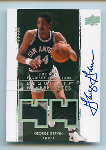 2009-10 UD Exquisite George Gervin NUMBER PIECES Dual Patch Auto /44