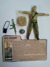 Duke First Sergeant 1983 G.I. Joe RAH Action Figure with Accessories File Card