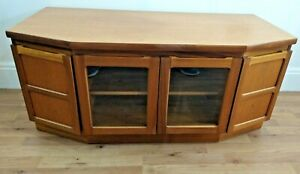 Nathan TV unit Display Cabinet with media storage Teak 1970s danish era