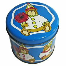 Valleybrook Farms Blue Teddy Bear Clown Tin
