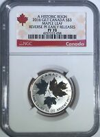 2016 $3 CANADA SILVER MAPLE LEAF GILT NGC PF70 UCAM REVERSE PROOF 1/4th OZ PR70